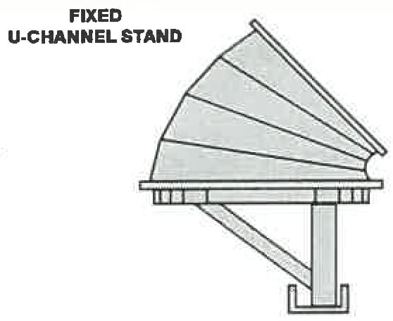 45 degree fixed u-channel stand