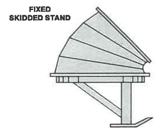 Fixed skidded stand diagram