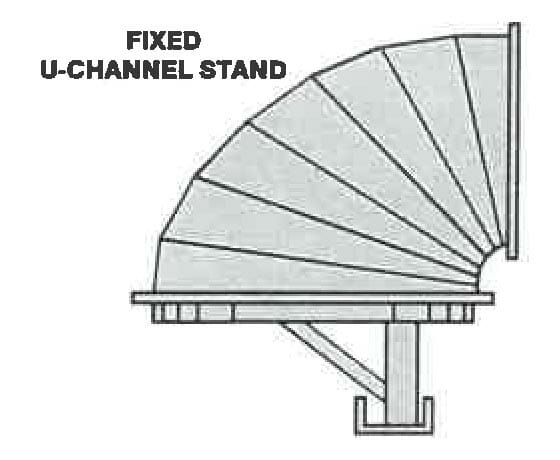 Fixed u-channel stand