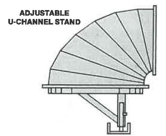 Adjustable u-channel stand diagram