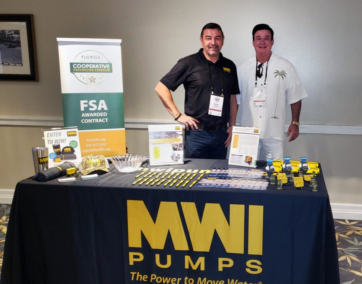 Gary Evans, MWI Rental Manager with Craig Chown, FSA Cooperative Purchasing Program Manager