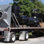 Lineshaft pump on trailer