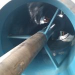 View inside a lineshaft pump