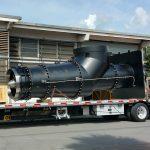 Lineshaft on trailer