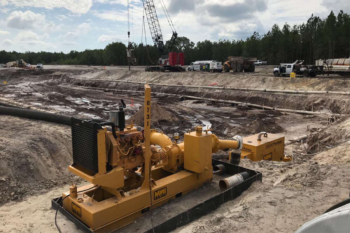 Silent Partner pump at construction site
