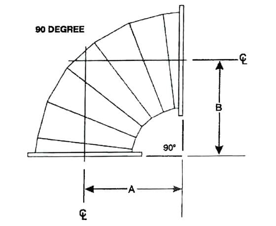 90 degree discharge pipe diagram