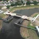 Overhead view of pumping station