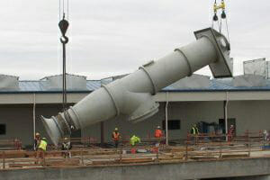 Lineshaft carried by crane