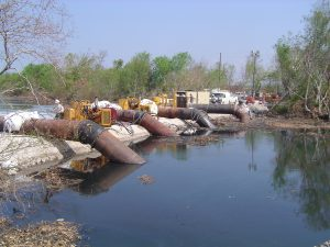 MWI New Orleans pumps moving water outside