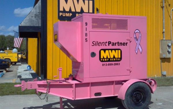 Silent Partner MWI Pump Rentals Breast Cancer Awareness
