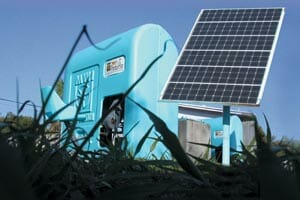 SOLARPEDALFLO™ station and solar panel